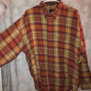 Van Heusen flannel shirt red/orange